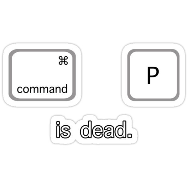 Print is dead.  (Mac version) by Anthony Pipitone