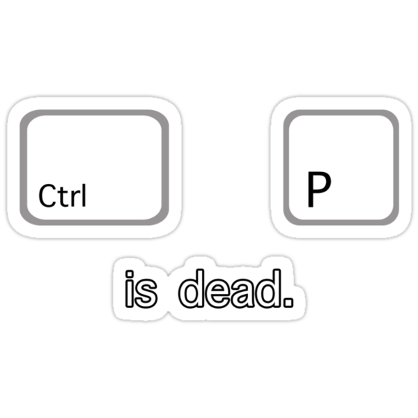 Print is dead.  (PC version) by Anthony Pipitone