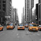 New York Taxis by Harrie Haaima