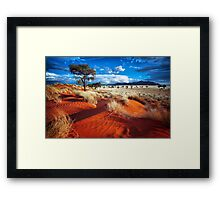 Dancing Grasses on the Red, Red Earth Framed Print