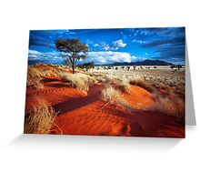 Dancing Grasses on the Red, Red Earth Greeting Card