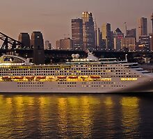 Dawn Princess Arrives With The Dawn by TonyCrehan