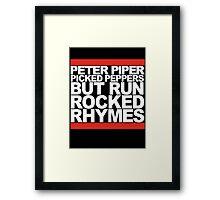 Run Rocked Rhymes Framed Print