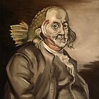 Ben Franklin (as a fish) by Ellen Marcus