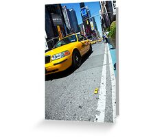 Minature New York Taxi Greeting Card