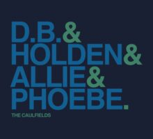 The Catcher in the Rye - The Caulfields, Blue/Green Kids Clothes