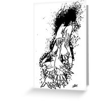 The Last Caress (white) Greeting Card