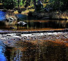 Longpine Creek, Manitoba/Ontario Border by Vickie Emms