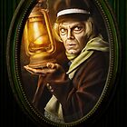 Grave Digger Framed Portrait, Haunted Mansion Series by Topher Adam The Dark Noveler by TopherAdam