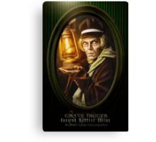 Grave Digger Framed Portrait, Haunted Mansion Series by Topher Adam The Dark Noveler Canvas Print