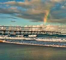 Rainbow over the Spit Jetty by Karen Willshaw
