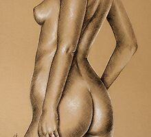 Charcoal nude female #9 by Sarah  Mac