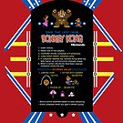 Donkey Kong Cocktail Instruction Card by  M