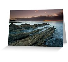 """Shale Shelves"" ∞ Rocky Cape N.P, Tasmania - Australia Greeting Card"