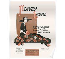 HONEY LOVE (vintage illustartion) Poster