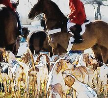 Horse and hounds 3 by MrMild
