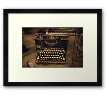 type type type Framed Print