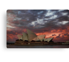 Opera House Sunset Canvas Print