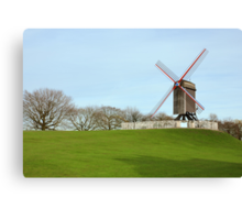 Windmill at the park in Bruges, Belgium Canvas Print