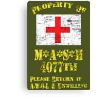 Property Of Mash 4077th Canvas Print