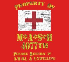 Property Of Mash 4077th Kids Clothes