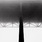 Bridge in Fog - B&W by cyasick