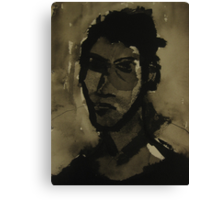 self-portrait in ink Canvas Print