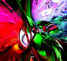 Color Carnival Abstract by Alexander Butler