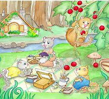 COTTAGE PICNIC by Lynn Wright