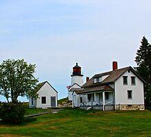 Island Lighthouse. by Max Franz Jr.