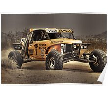 Yellow Buggy at Dusk Poster