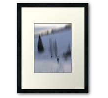 Winter Walk, Fischbacher Alps, Austria Framed Print