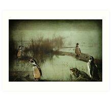 The Penguin Patch Art Print