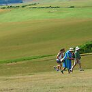 Rushing up the Hill, Beachy Head by KUJO-Photo
