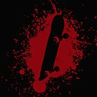 Skate splatter (red-blk) by Benjamin Whealing