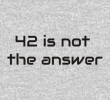 42 is not the answer by Artmassage