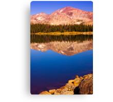Mountain Lake Reflections Canvas Print