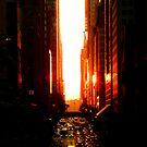 Manhattanhenge Sunset - Times Square - New York City by Vivienne Gucwa