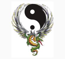 Yin Yang Dragon T-Shirt by AsianT-Shirts