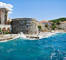 Korcula Splashed  by Lynnette Peizer