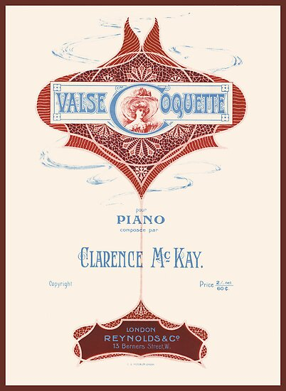 VALSE COQUETTE (vintage illustration) by ART INSPIRED BY MUSIC