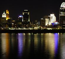 Cincinnati Skyline at Night by Sivle