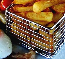 A Slice of Gammon Egg & Chips by BevsDigitalArt