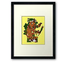 Jaguar Warrior - Codex Borgia Framed Print