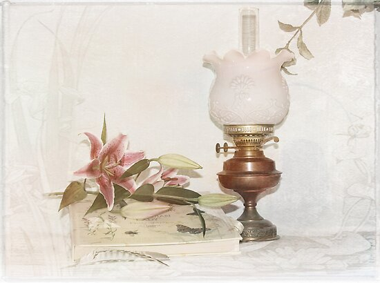 Still life with Lilies . by Irene  Burdell