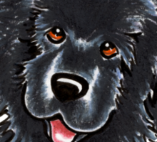 Black Newfie :: Its All About Me Sticker