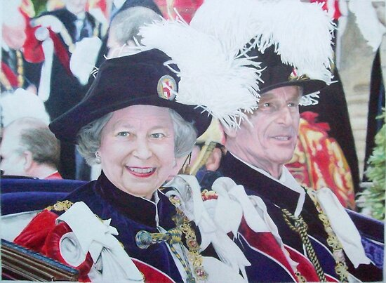 The Queen & Prince Philip 1999 by Samantha Norbury