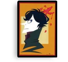 Sherlock Holmes Paper Portrait Canvas Print