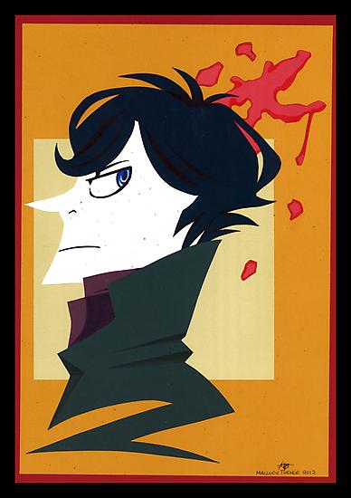 Sherlock Holmes Paper Portrait by Lascaux