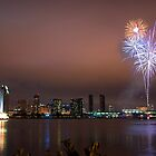 FIREWORKS ON SAN DIEGO BAY by fsmitchellphoto